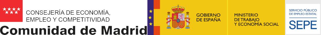 Logos Consejería Comunidad de Madrid - SEPE